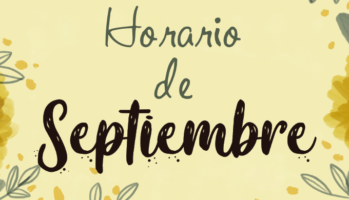 Horario reducido para el mes de septiembre
