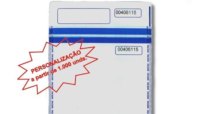 Envelope / Saco de ALTA SEGURANÇA opaco, com adesivo de alta segurança termocromático e com texto de...