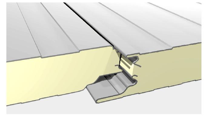 C'est un panneau sandwich isolant constitué côté extérieur d'un parement acier galvanisé pré laqué l...