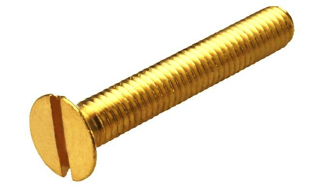 Brass CSK Machined Screws DIN 963