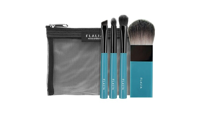 Brush Set (4MINI Portable Makeup Brush Set)