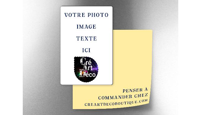 Le magnet rectangle 5 x 8,3 cm est idéal pour un cadeau personnalisé ou en objet publicitaire pour m...