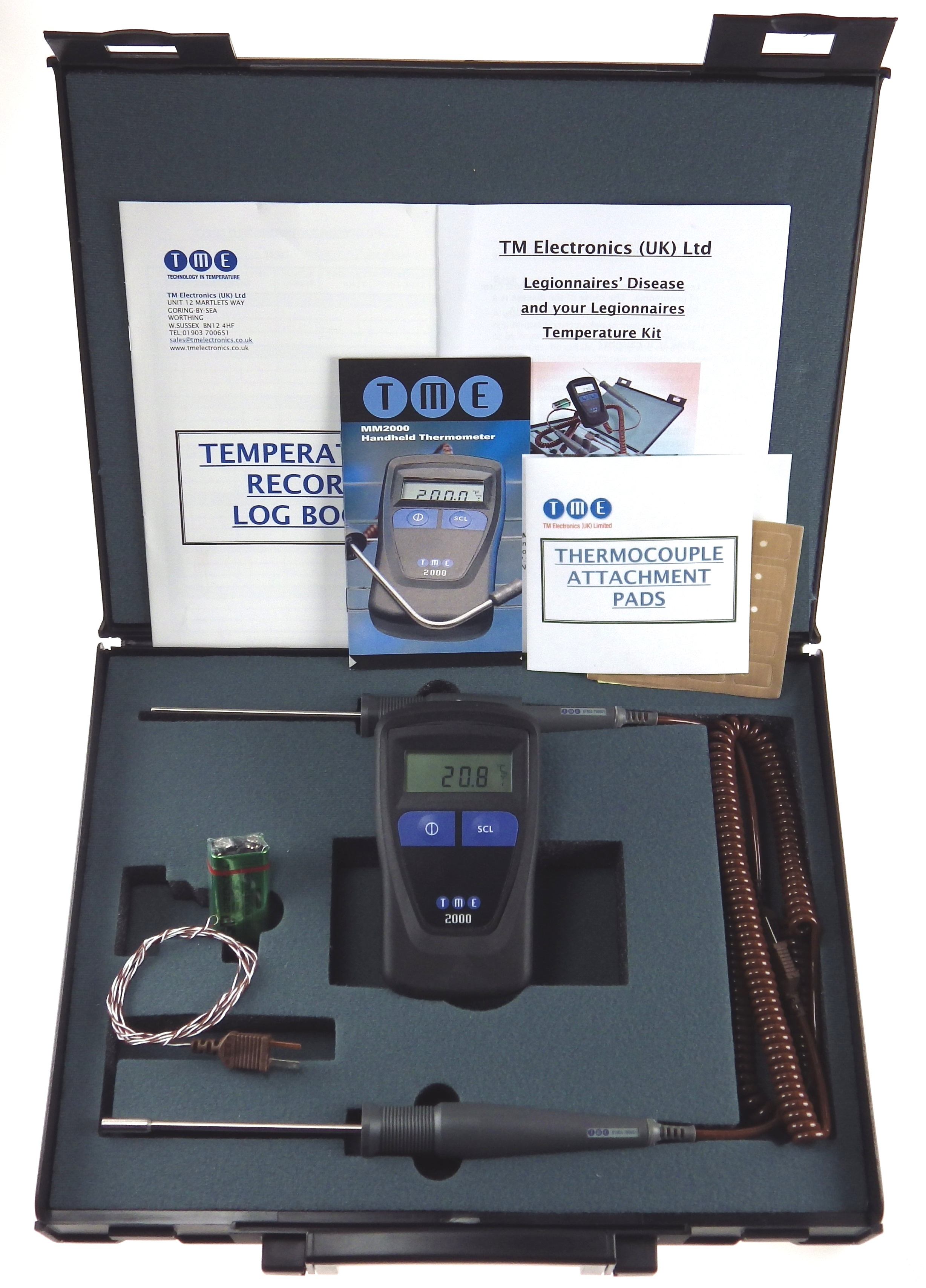 This kit may be used to monitor the temperature of both running and standing water, as well as the s...