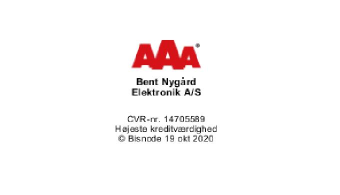 Bent Nygaard Elektronik,  AAA rating 2020