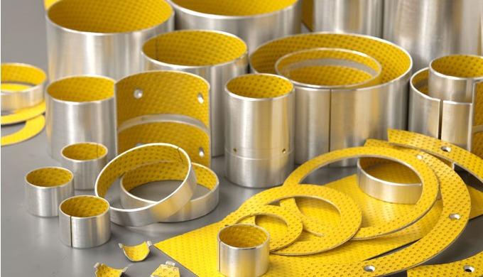 Aufbau gerollte Gleitlager GGT20 (wartungsarm) nach DIN ISO 3547-4 (DIN 1494)Gleitschicht aus POM mi...