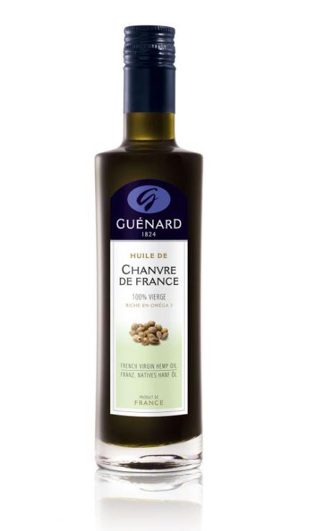 Guénard vous propose une huile au goût frais est surprenant : l'Huile de Chanvre de France 100% vier...