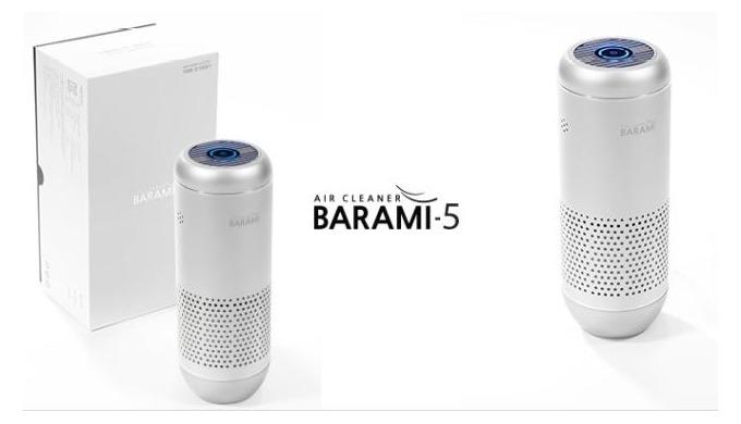 [BARAMI-5_SILVER] CAR PORTABLE AIR PURIFIER