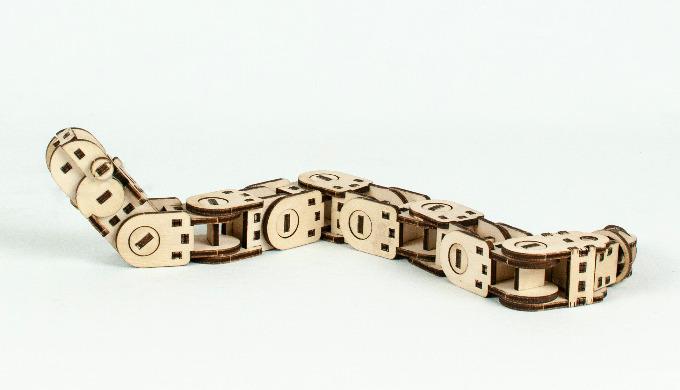 Jeu à fabriquer soi même KIT Serpento Serpent modulaire entièrement articulé avec mâchoire à élastiq...
