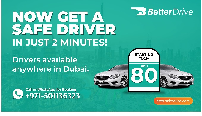 We provide reliable Safe Drivers in Dubai who drive you to your desired destination safely inconveni...