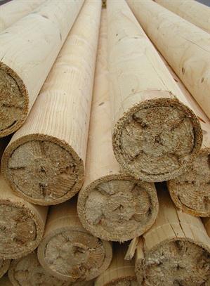 Dřevěné zbytkové válečky - dřevěné palisády