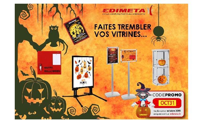 Pour Halloween, Faites trembler vos vitrines, avec une communication effrayante !!!