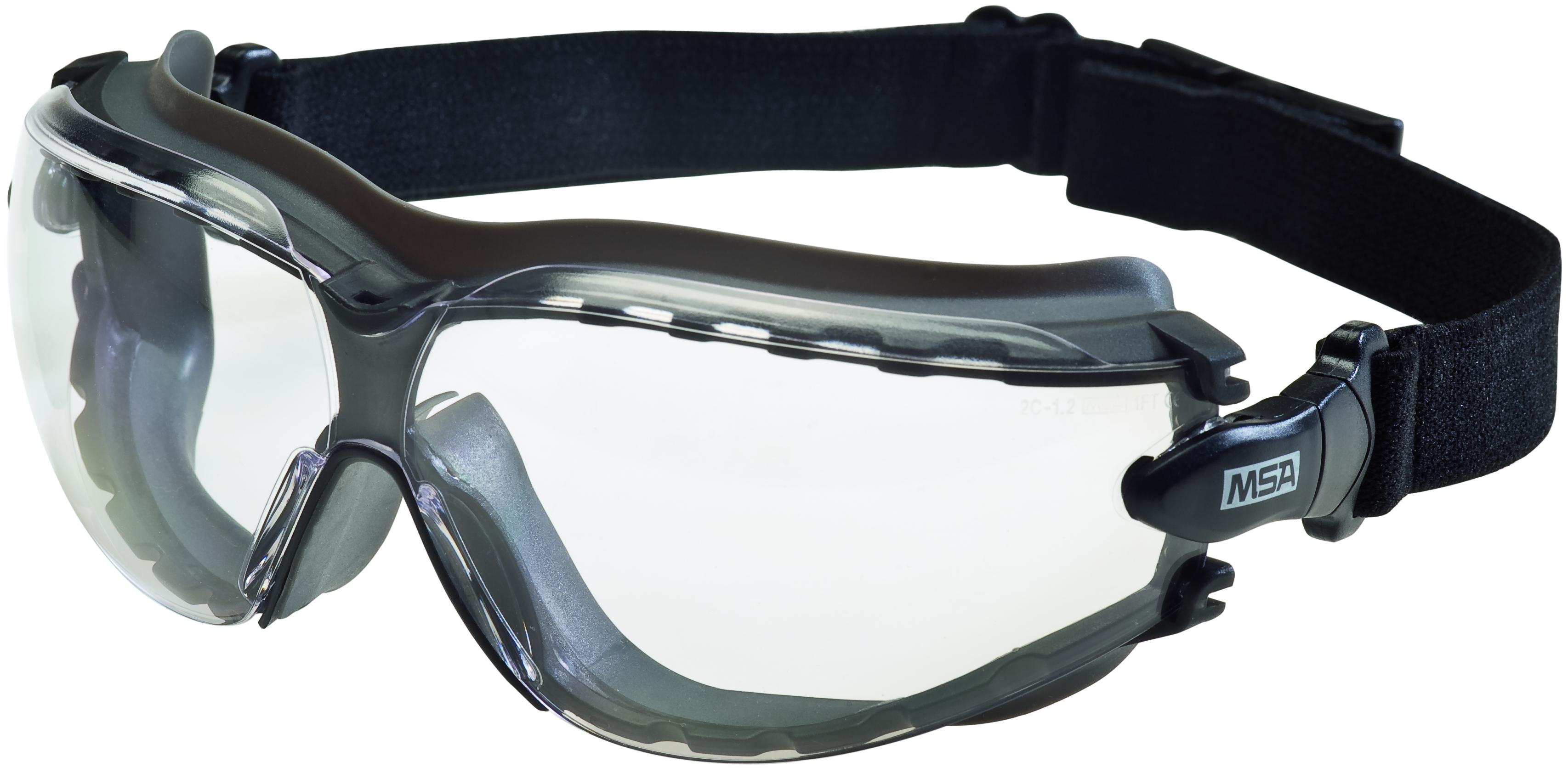Combinaison lunettes à branches & lunette-masques - Lunettes enveloppantes : Oculaire incolore PC 9....
