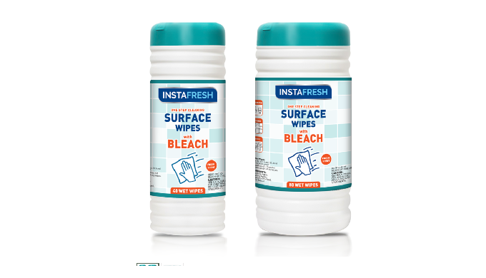 Instafresh One Step Cleaning Surface Wipes With Bleach is specially formulated for surface cleaning....