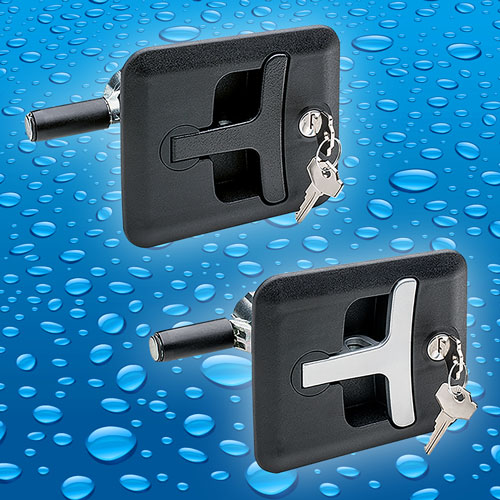 The CSMH from Elesa is a flush mounting compression latch with pop-out T bar handle that offers IP65...