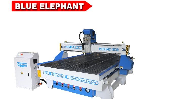 Синий слон 1530 с ЧПУ деревообрабатывающий станок для плоского и цилиндр гравировальный