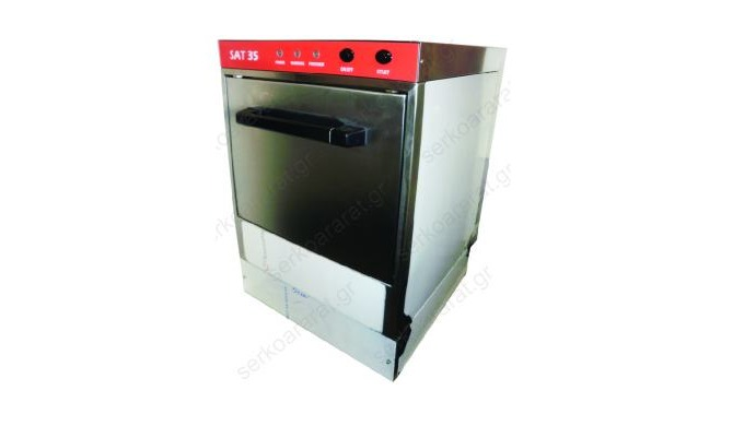 Glass washer with square basket 35X35, door opening 270mm & washing cycle 2.5 minutes. It is made of...