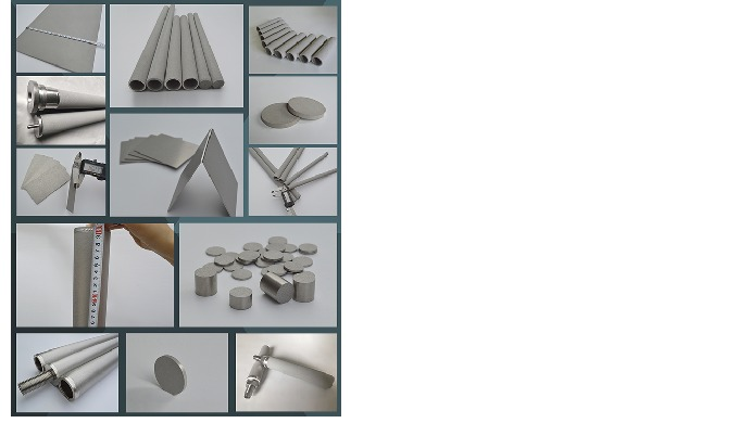 Metal powder sintered porous material is made of metal or alloy powder by forming and sintering at h...