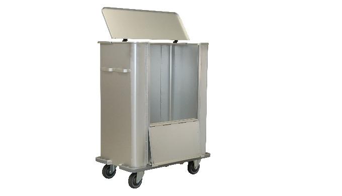 Chariot en aluminium anodisé Capacité : 710 ou 1080 Litres PAROIS LISSES Chariot composé de : - 1 ch...