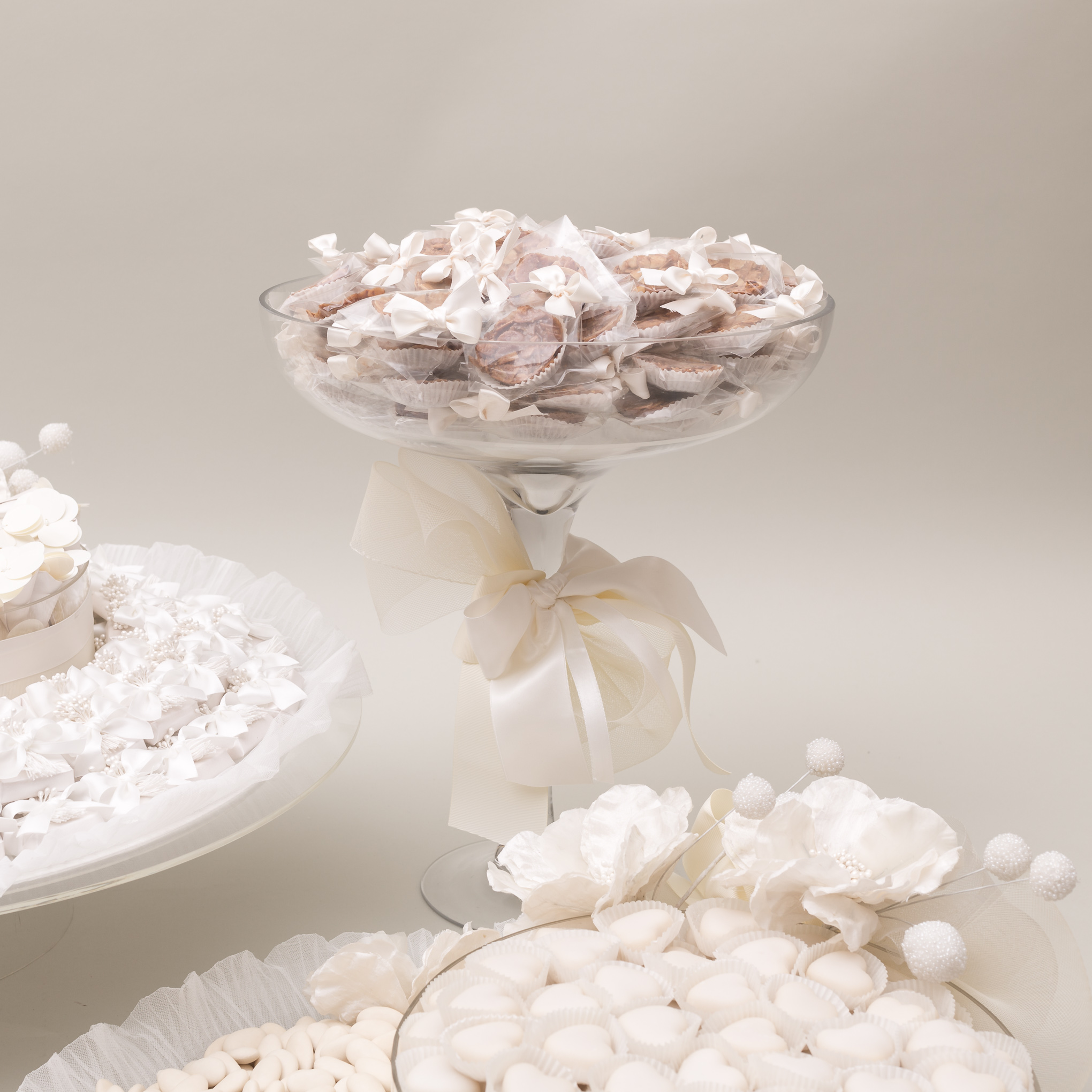 Nothing says Bridal better than Ivory colors, silky textures and delicately handmade flowers!