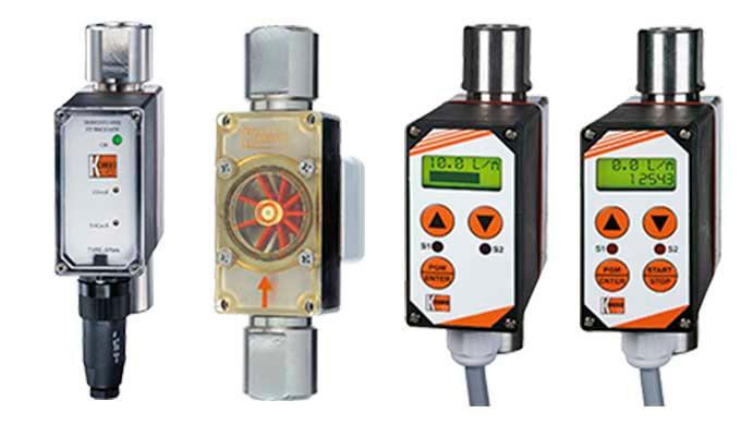 Mess- / Schaltbereich: 0,08 - 0,5 l/min ... 40 - 160 l/min Wasser Anschluss: G ⅛ ... G 1½, Flansch D...