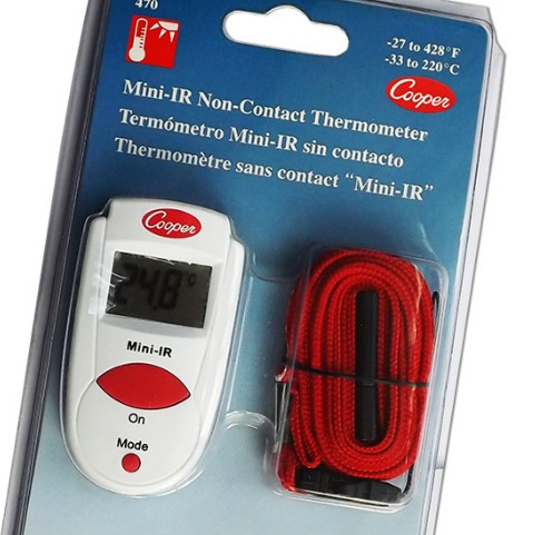 This pocket-sized infrared non contact thermometer is a simple tool for measuring exterior temperatu...
