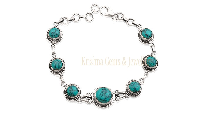 Material : - 925 Sterling Silver Gemstone : - Turquoise ( All types of Gemstones Avaailable ) Dealin...
