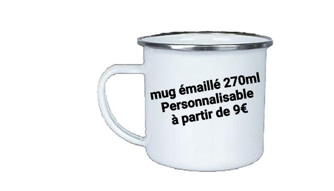 Ce mug en acier émaillé de 270ml a un look vintage grâce à son cerclage métallique. Son look rappell...