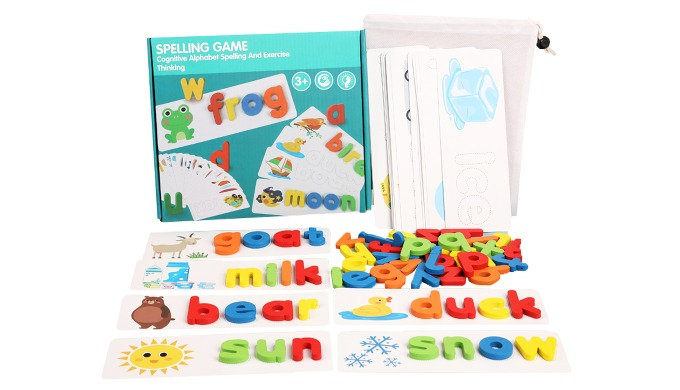 Wooden English Words Spelling Card