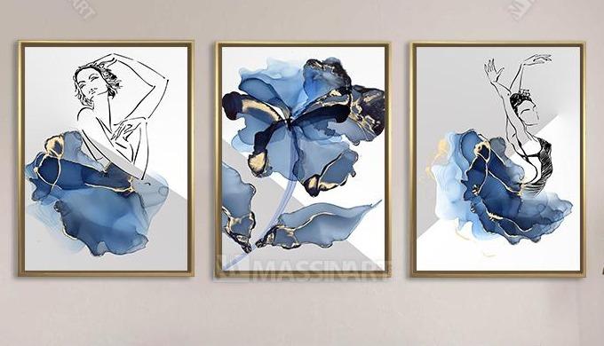 Tableaux de décoration moderne en toile peinture et impression