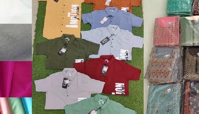 Textile Fabrics - Cotton, Polyester, Silk, Blended etc.. Mens Garments - Shirts, T-shirts, Jeans etc...