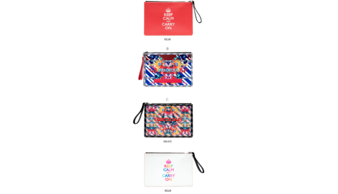 KEEP CALM AND CARRY ON Brand  Collaboration Cluch Bag