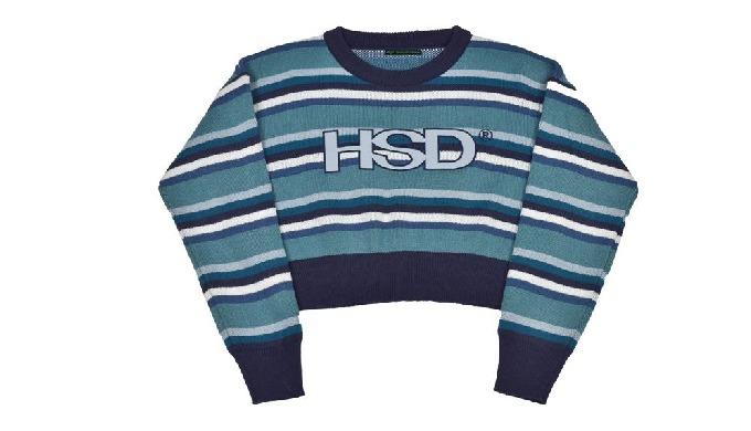 HSD Stripe Crop Knit