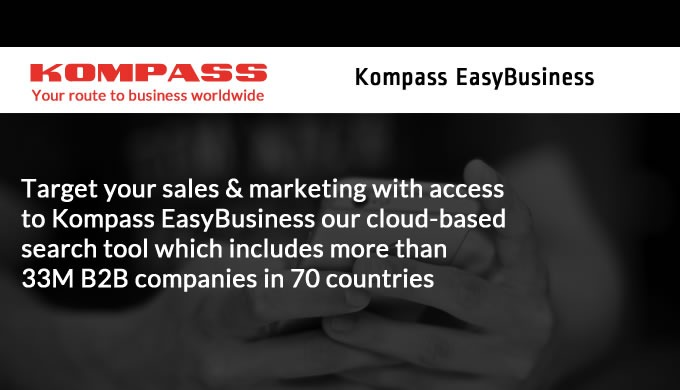 Kompass Business Data helps you find the right customer leads and marketing lists for your business,...