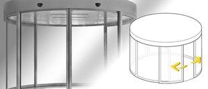 Durch ihre grosse Gestaltungsmöglichkeit verleihen die Gilgen Rundschiebetüren jedem Eingangsbereich...