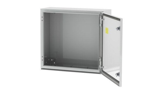 Steel enclosure for electrical equipment