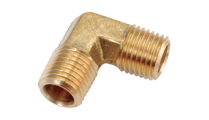 Brass Male Elbow Connector made from Brass and available in various standard sizes.