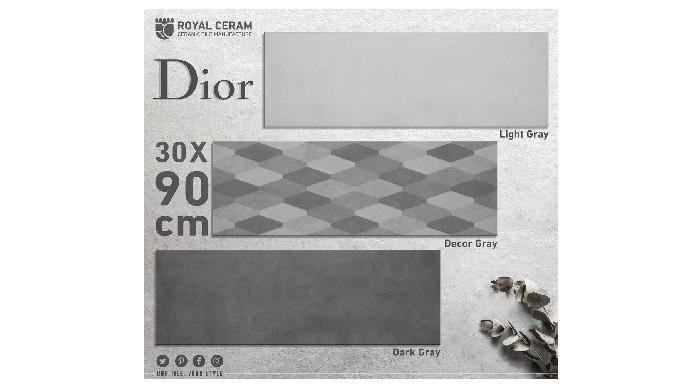 Size: 30x90cm Color: Light Gray / Dark Gray / Decor Type: Wall Tiles