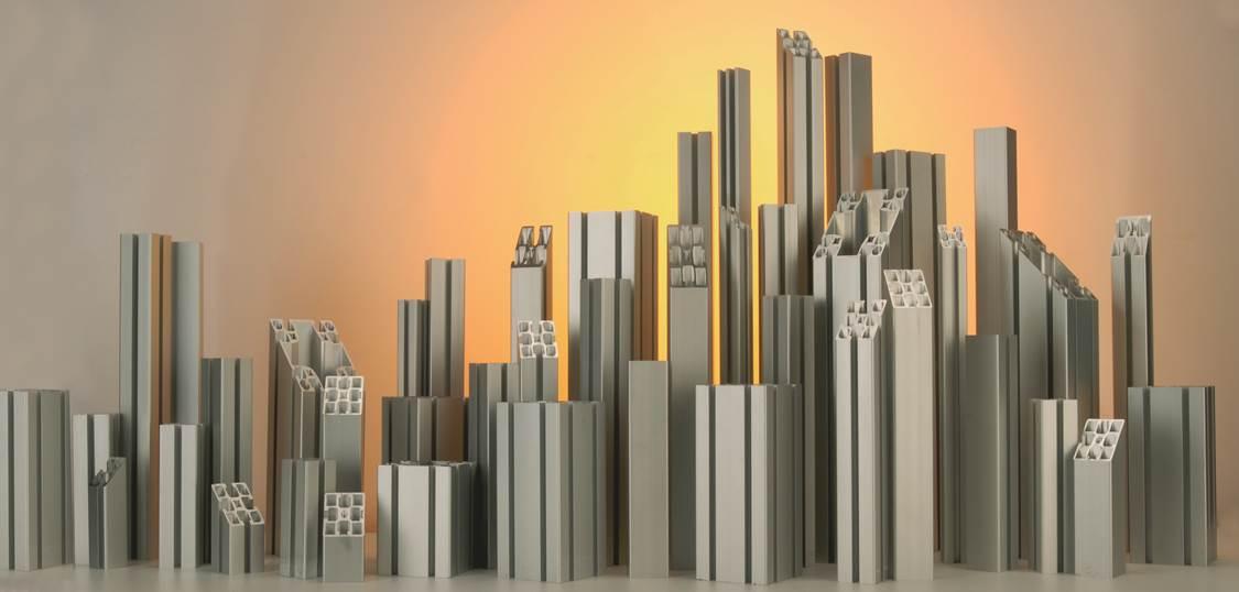 Profilés aluminium pour constructions modulaires