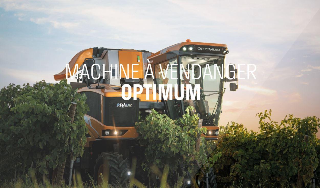 PELLENC vous présente une gamme de machines à vendanger OPTIMUM. Ces machines sont disponibles n dif...