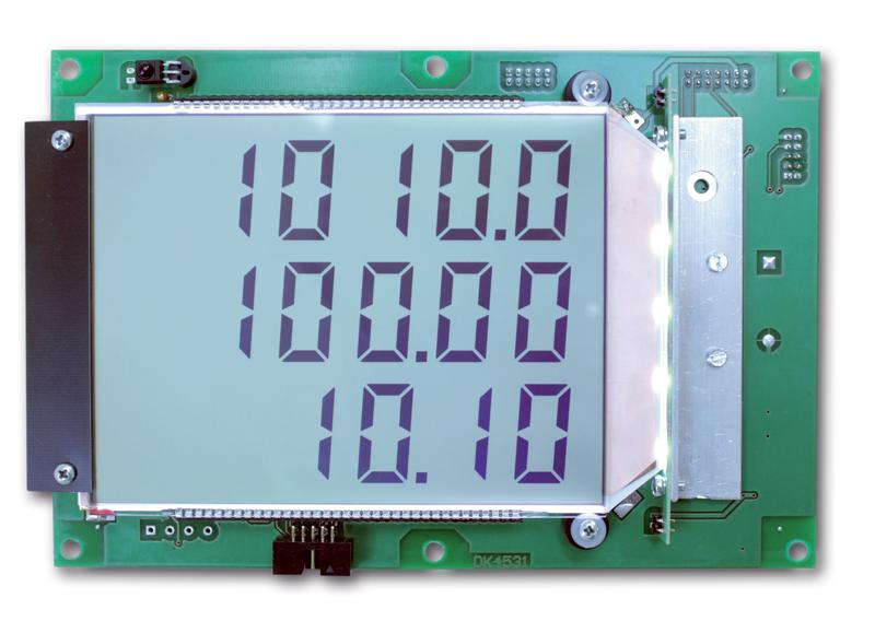 kód: 204111 Podsvětlený (bile LED) numerický displej se zákaznickým zobrazovačem (pozitivní) a rozhr...