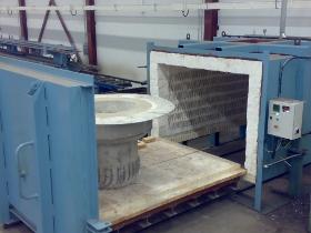 Avspänningsglödgning eller torkeldning av konstruktioner. Djup: 2750 mm Bredd: 1950 mm Höjd: 1350 mm