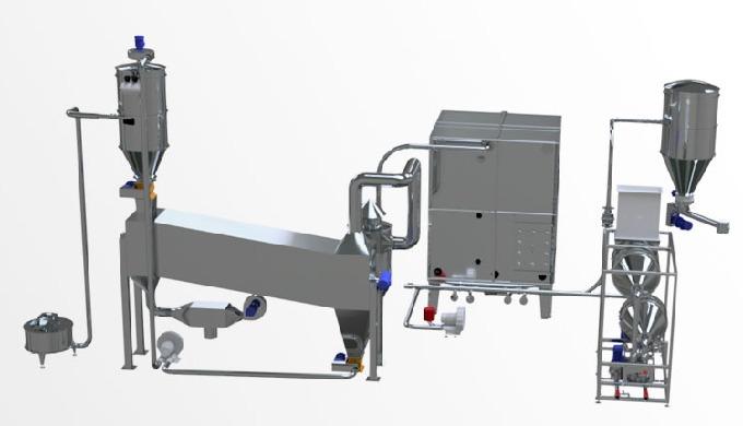 Impianti completamente automatizzati per il recupero degli scarti di produzione del pane e prodotti ...
