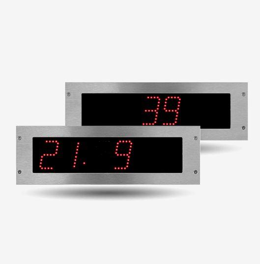 Bodet, leader de l'affichage horaire, vous propose une large gamme d'horloges à LED intérieur dont :...