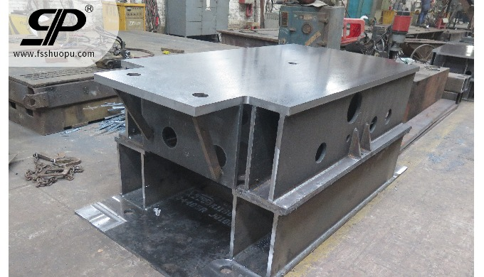 steel fabrication weldment for machinery base