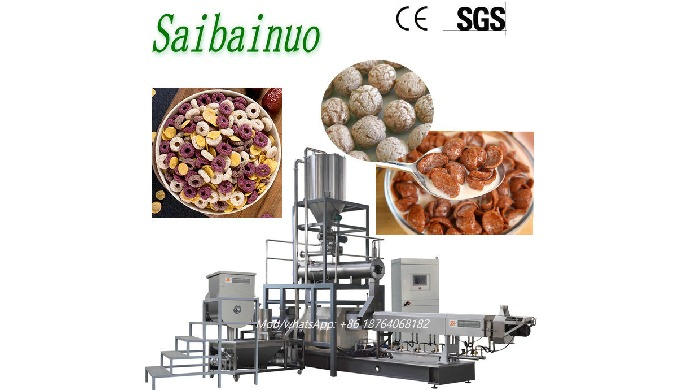 Our breakfast cereal making machine produce expanded ready-to-eat breakfast cereals which are natura...