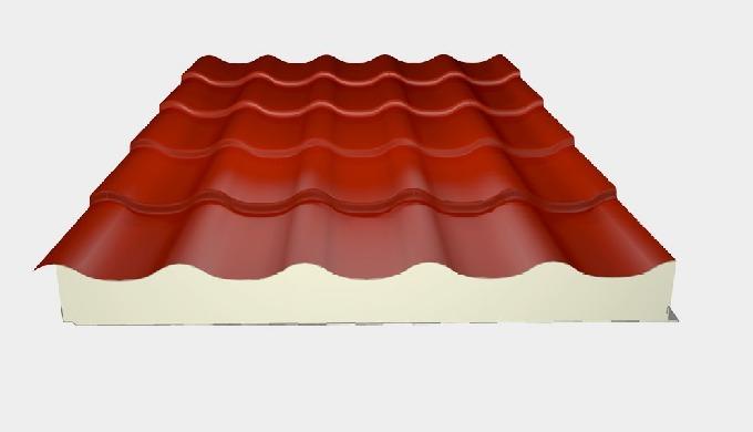 -Les panneaux sandwichs en polyuréthane de couverture tuile sont un excellent moyen pour décorer vos...