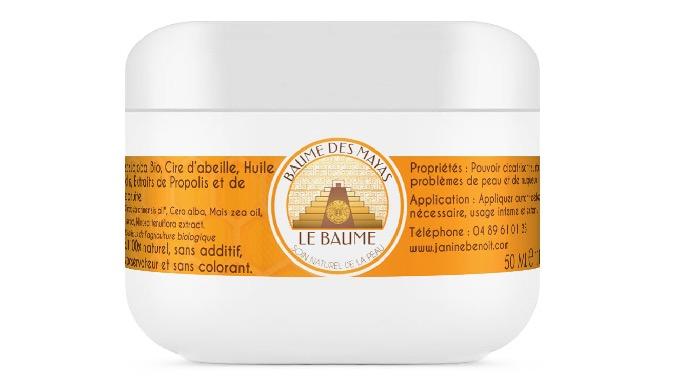 Baume des Mayas es una crema 100% natural desarrollada en el laboratorio de Janine Benoit. Su compos...