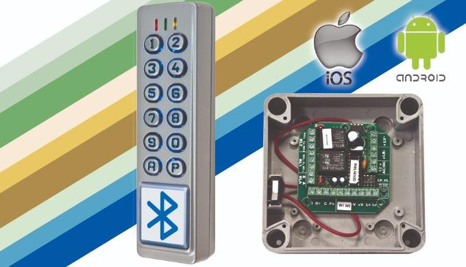 Gama 2C (CLBL-2C, CLBL-2C-WDT, CLBL-2C-ELA+):Teclado / Lector 2 columnas con bluetooth y app gratuita
