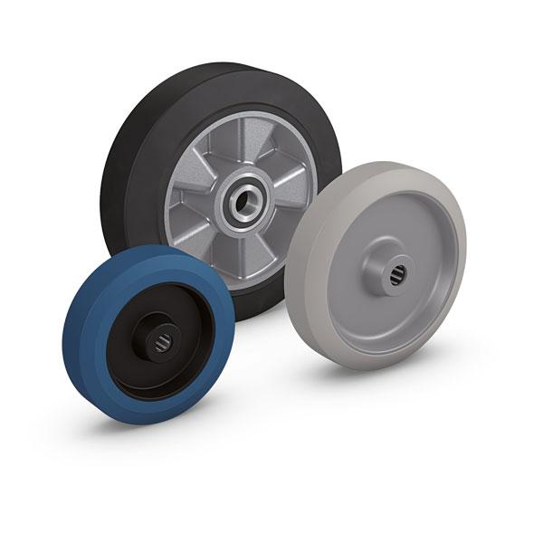 Unterschiedliche Gummiqualitäten und Radkörper bestimmen die Einsatzmöglichkeiten dieser Radserien. ...