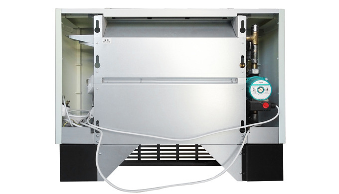 Fan coil with microboiler